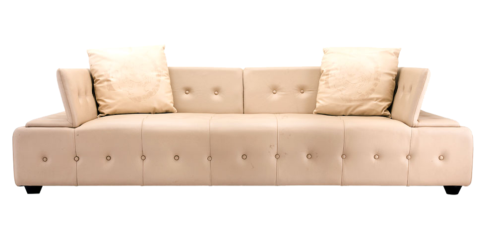 Fine Leather Sofa. The Designs Are Hand Brushed By Artists. Limited Edition.
